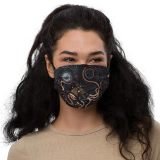CAVIS Steam Punk Octopus Premium Cloth Face Mask - Front