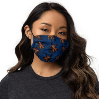 CAVIS Flying Octopus Premium Cloth Face Mask - Front