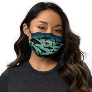 CAVIS a Shark Pattern Premium Cloth Face Mask - Front